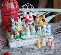 wholesale foreign original bulks 100pc forest animal family mini cute kawaii kitten bunny bear doll kids toys for children girls