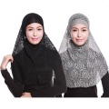 Muslim Hijab Lace Two-piece Hijabs Fashion Jersey Slip Women Oversized Scarf Shawl Wrap Top In Euros Freeshipping