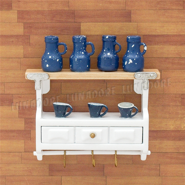Swell Us 8 02 9 Off Odoria 1 12 Miniature Wood White Kitchenware Cabinet With Bottles And Tea Cups Dollhouse Kitchen Accessories In Kitchen Toys From Toys Home Interior And Landscaping Ferensignezvosmurscom