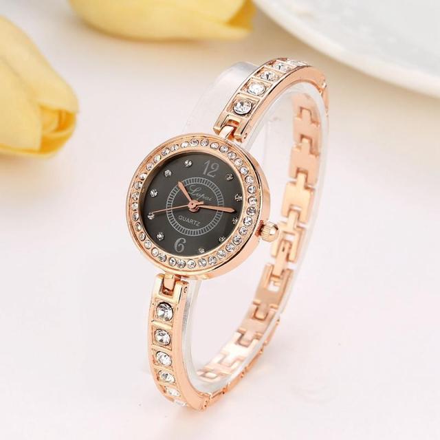 LVPAI Luxury Brand Women Watches Full Crystal Rhinestone Bracelet Watch Ladies D