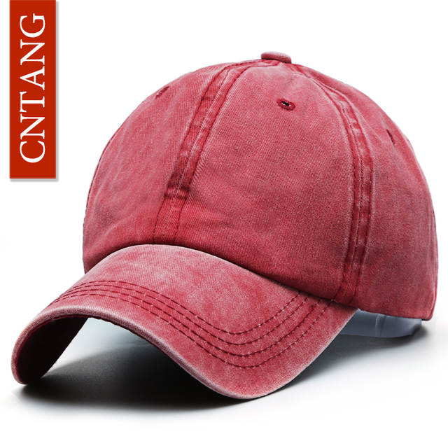 cd4ef15cd2f placeholder CNTANG Fashion Classic Casual Baseball Cap For Men Spring Summer  Blank Caps Women Cotton Solid Snapback