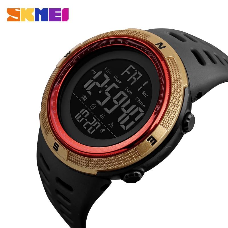 GemäßIgt Skmei Männer Sport Uhr Dual Time Uhren Wecker Countdown-5bar Wasserdichte Digital Uhr Relogio Masculino Relogio 1251 Attraktives Aussehen Digitale Uhren Herrenuhren