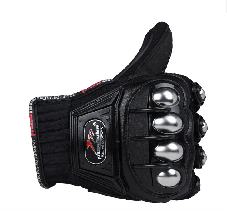 Image 5 - Madbike Motorcycle Gloves protective Gloves motorcycle Stainless Steel Sports Racing Road Gears Motorbike-in Gloves from Automobiles & Motorcycles