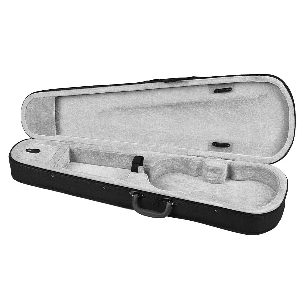 Professional 1/4 Violin Triangle Shape Case Box Hard & Super Light With Shoulder Straps Gray