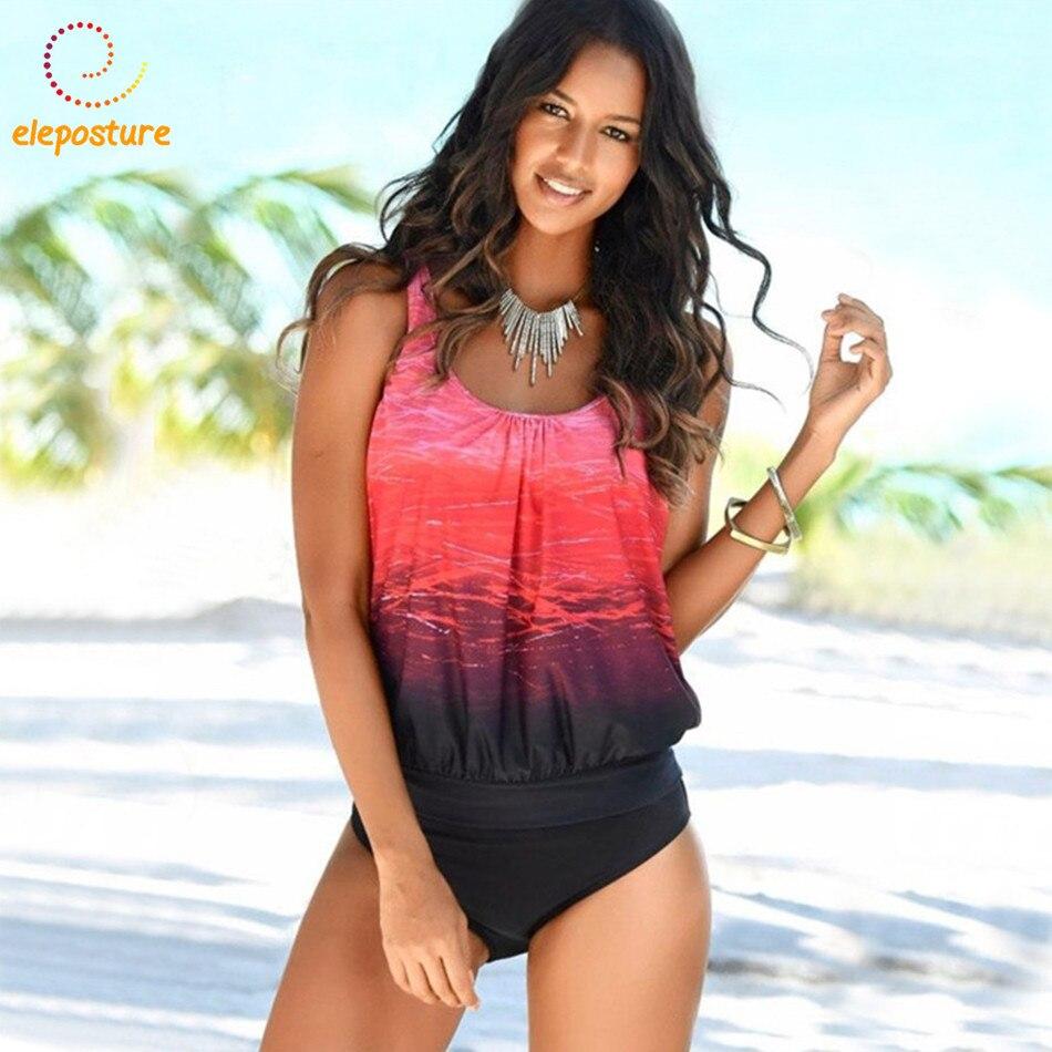 Tankini Swimsuits Women Swimsuit Plus Size Swimwear Vintage Retro Bathing Suit Beachwear Swimming Suit For Women Tankini Set 3XL