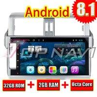 Automotive Player for Toyota PRADO 2014 2015 2016 Android 8.1 10.1'' Topnavi G RAM 32G ROM Octa Core NO DVD GPS Navigation 2 Din