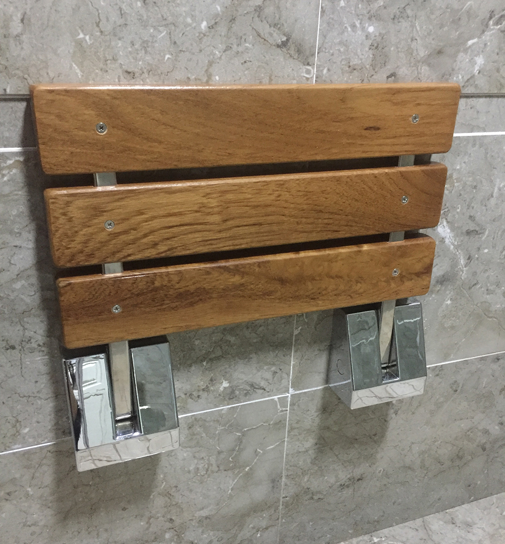 Wooden Folding Shower Seat | Home design ideas