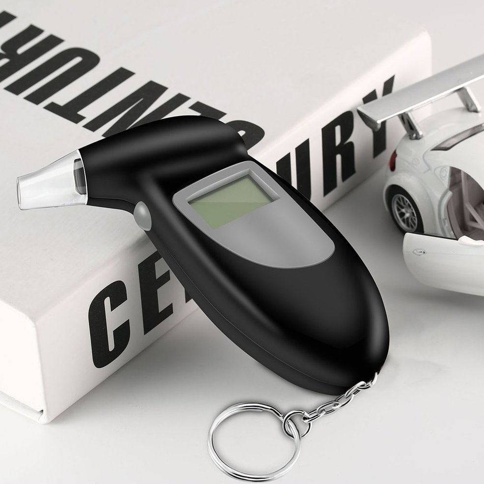 Alcohol-Breath-Tester Keychain Detector-Test Mouthpieces-Analyzer Blow-Test-Device Lcd-Display