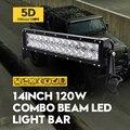 ForOsram Внешних Фары 14 Inch 120 Вт 5D LED Work Light Bar Пятно Наводнение Combo Дневные Ходовые Огни-дороги Дальнего света ВНЕДОРОЖНИК