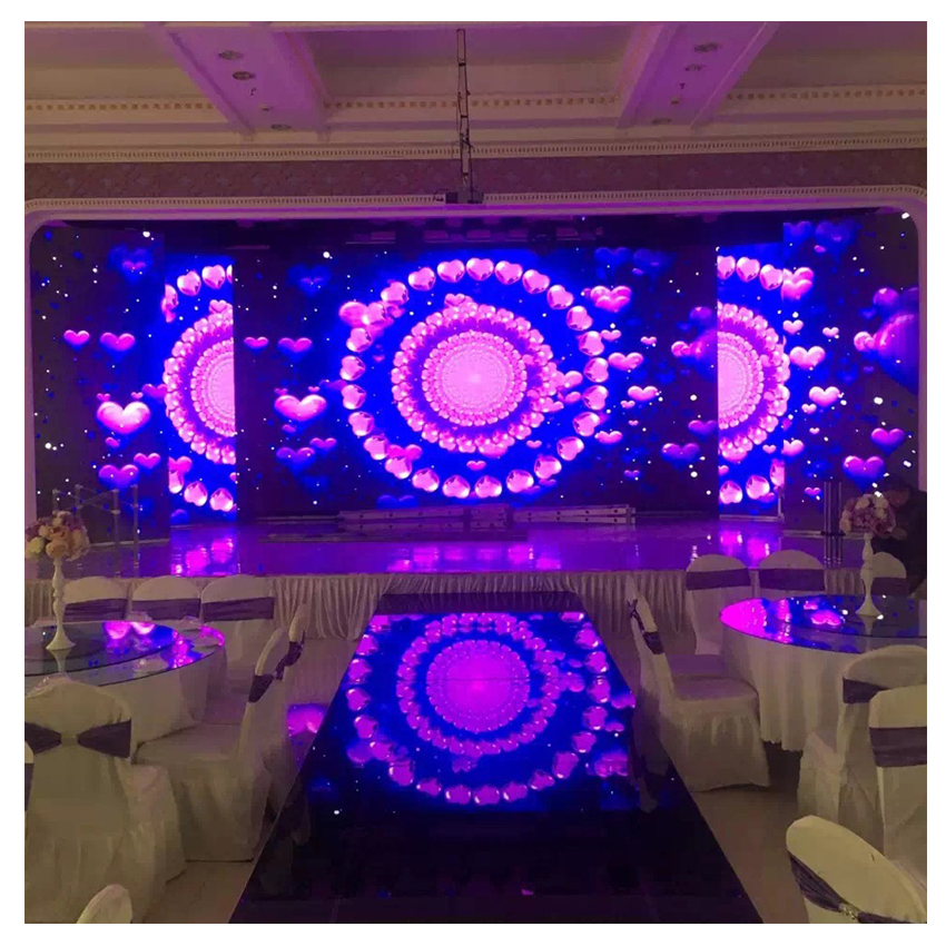 Indoor Rental Stage Background 640X640mm Aluminium Die Casting Cabinet P10 SMD3528 RGB Led Wall Display