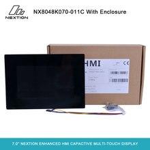 Nextion تعزيز NX8048K070 011C 7.0 LCD Capactive شاشة اللمس المتعدد عرض المدمج في RTC 8 الرقمية GPIO HMI مع الضميمة