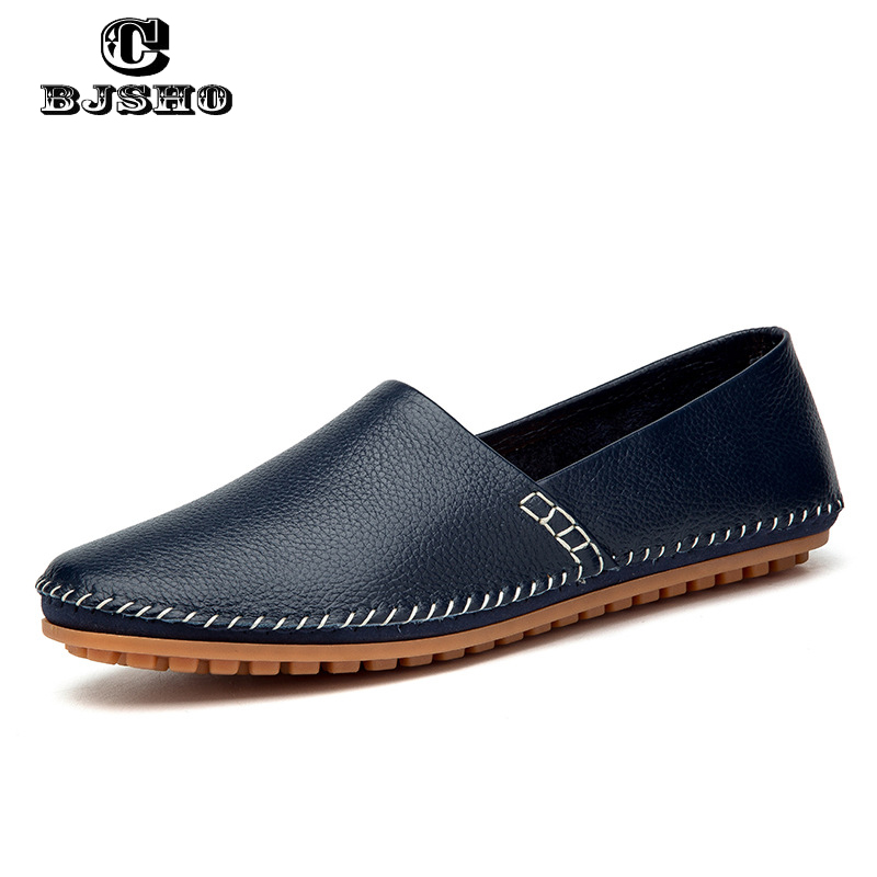 CBJSHO Mens Shoes Big Size 40-47 Genuine Leather Manual Sewing Men Loafers Driving Moccasins Slip on Leather Casual Shoes Men pl us size 38 47 handmade genuine leather mens shoes casual men loafers fashion breathable driving shoes slip on moccasins