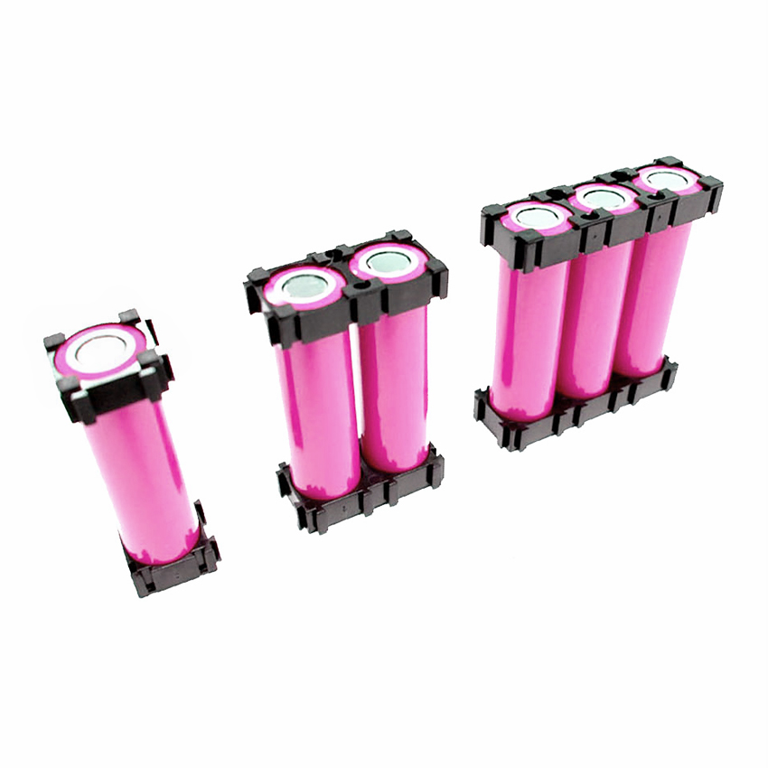 100Pcs 18650 Battery Cell Holder 1P 2P 3P Li-ion Battery Bracket Batteries Pack Fixture Anti Vibration 18650 Cell Holder Case