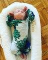 2017 de PRIMAVERA y VERANO DEL BEBÉ CABRITOS de la ROPA de BEBÉ RECIÉN NACIDO MAMELUCOS DEL BEBÉ de LA MUCHACHA ROPA de BEBÉ MAMELUCOS suecia del pavo real ropa de los cabritos bebe
