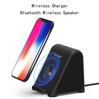 2 in 1 Bluetooth Speaker Wireless Loudspeaker Wireless Charger For iPhoneX 8 8Plus Fast Charging Dock for Xiaomi Huawei Samsung