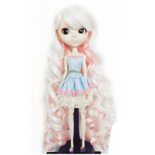 Beautiful BJD Wig Curly Hair for Dolls,Dollls Accessories BJD Doll Hair,High-temperature Wire Wavy Wigs(China)