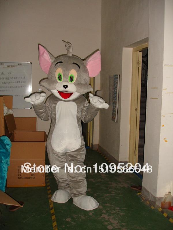 Suaugusiųjų dydžio animaciniai lėlės Tom katė Mascot Kostiumai spektaklių drabužiai Tom katė Mascot Kostiumai nemokamas pristatymas