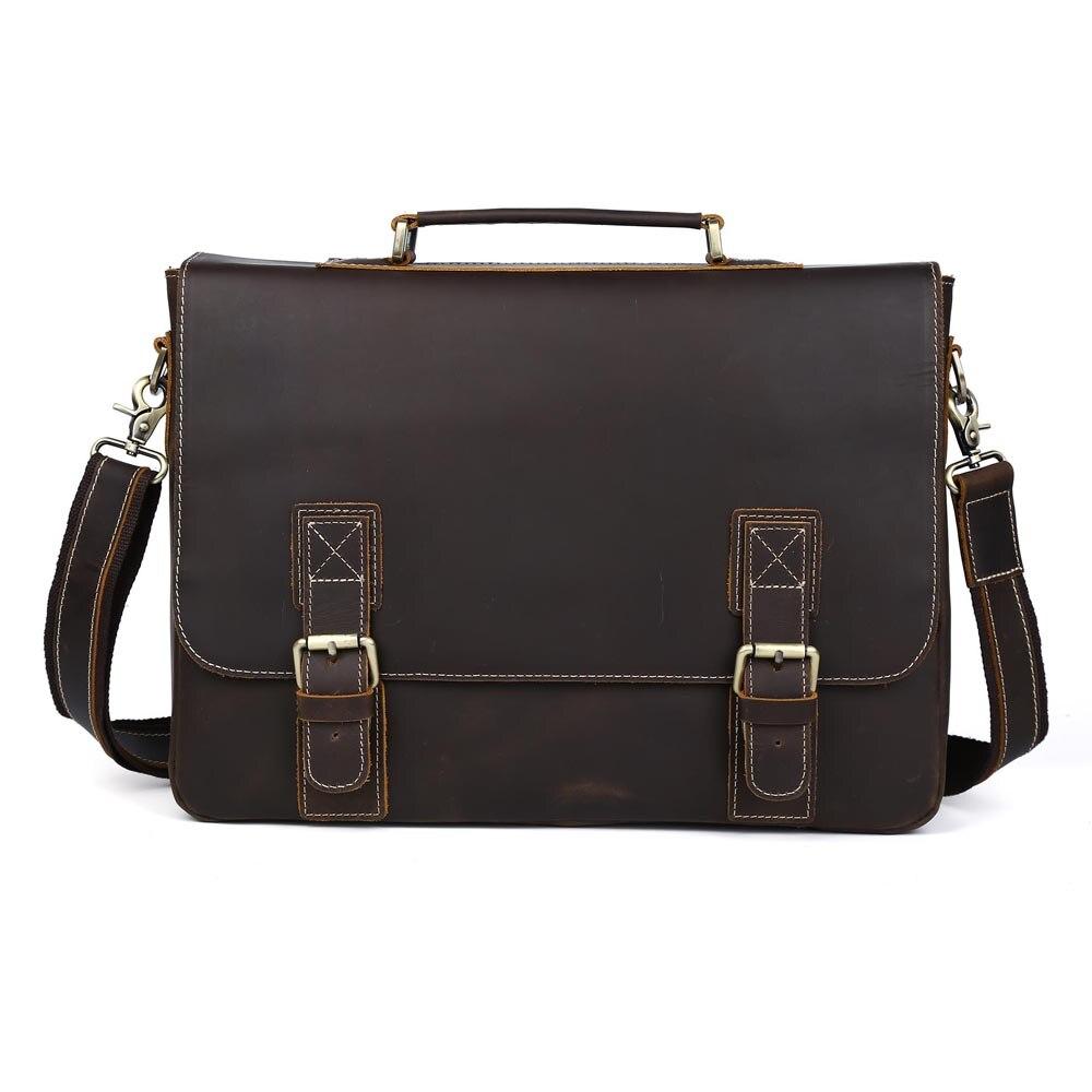 p8069b Tiding Leder P8069db Zoll Body Laptop P8069 16 Aktentaschen Rindsleder Style Vintage Große Tasche Schultertasche Cross ZZqw4rR