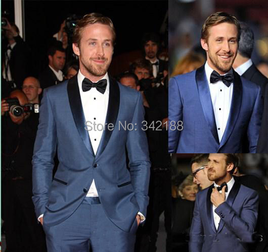 7a12c026c9e6f US $109.99 |Blue Mens Tailored Suit Blazer Trouser Coat Pant Jacket Indo  Western Wedding Tuxedo Custom made Jacket+Pants+Tie+Scarves-in Tuxedos from  ...