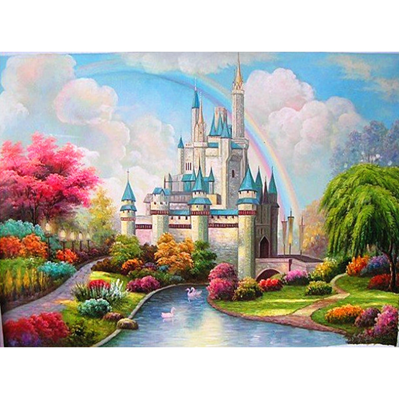 YTG Decor Crafts 5D DIY Dream Castle Full Diamond Painting