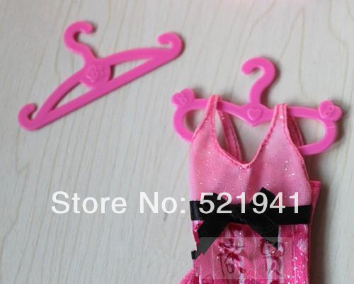 Free Delivery, 50pcs doll garments hanger hangings For Barbie