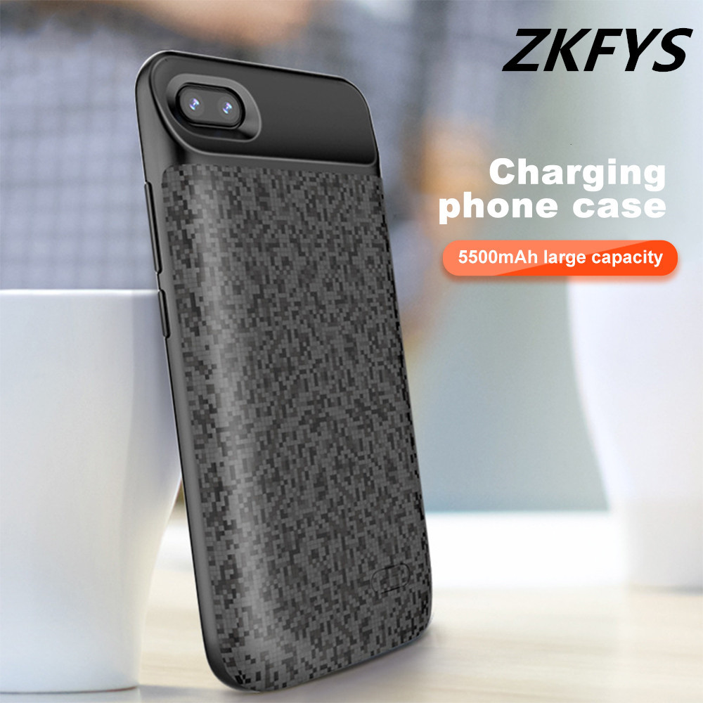 ZKFYS 5500mAh Portable Ultra Thin Fast Charger Battery Cover For Huawei Honor 9 High Quality External Power Bank Charging Case in Battery Charger Cases from Cellphones Telecommunications