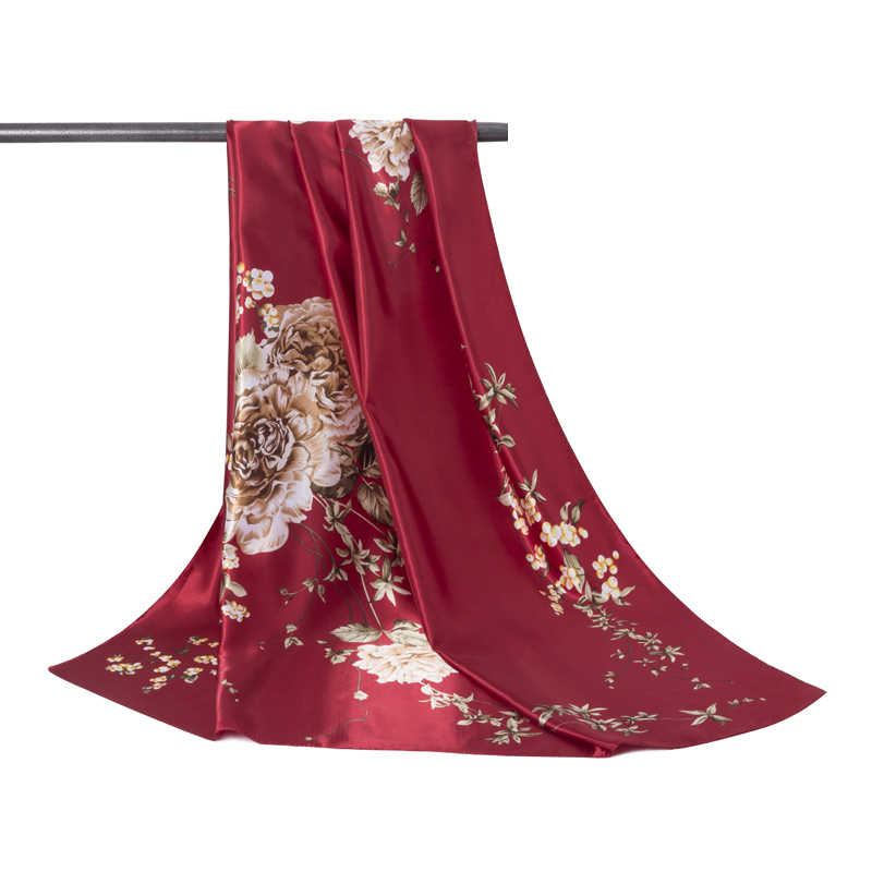 Nueva moda cálida bufanda de Invierno para mujer bufandas cuadradas envoltura femenina invierno otoño estampado chica chales manta bufanda