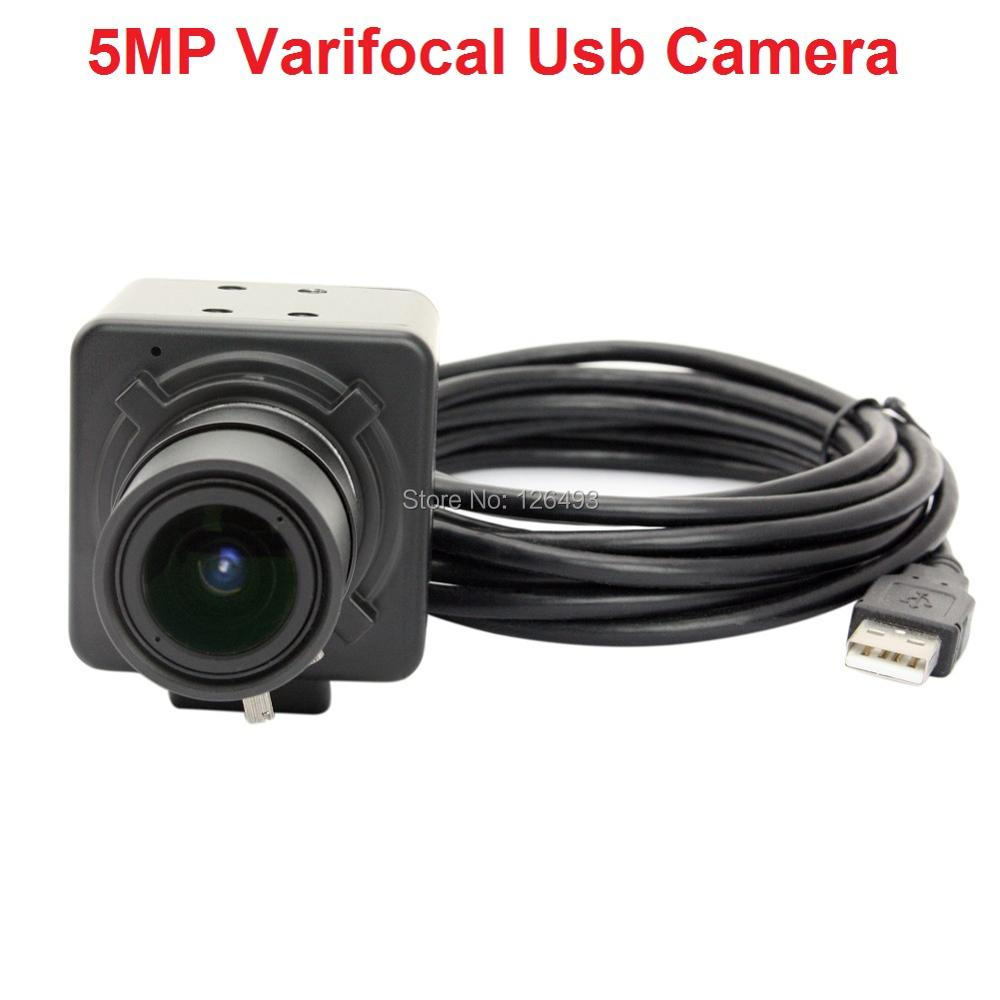 Free shipping CMOS OV5640 CCTV Varifocal USB Camera 5MP for Android /Linux/Windows