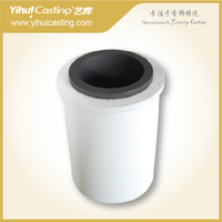 5.5kg Graphite crucible and ceramic shield for melting gold,silver, used in induction melting furnace