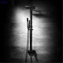 Dofaso luxury all copper 20*20cm square black shower set oil rubbed faucet bronze faucets