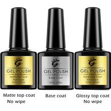 UV LED Gel Nail Polish Kit No-wipe High Glossy Matte Top Coat Nail Primer Base Coat Manicure Gel Lacquer