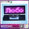 Розовый светодиодный бедж программируемый прокрутка led имя тега светодиодные рекламные мини знак светодиодный знак с булавкой и магнит