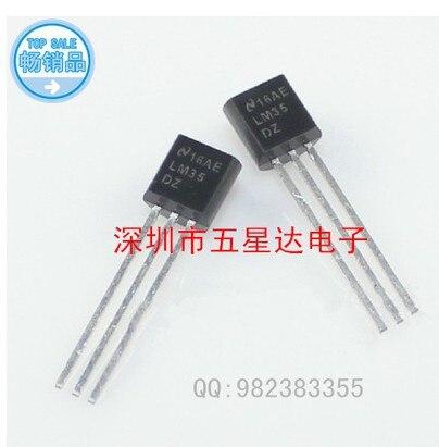 Free Shipping 50PCS LM35DZ TO 92 LM35 Precision Centigrade Temperature Sensors