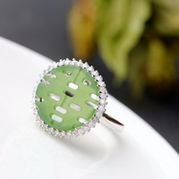 wholesale 925 sterling silver Natural natural the silver ring by hand Happy character restoring ancient ways women