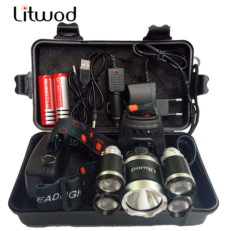 Litwod Z35T13 Headlight 40000 Lumen Headlamp CREE XML 3/5 LED T6 Head Lamp Light