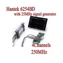 Hantek 6254BD Digital Oscilloscope USB Handheld 4 Channels 250Mhz Oscillograph PC Based Osciloscopio 25MHz Signal Generator