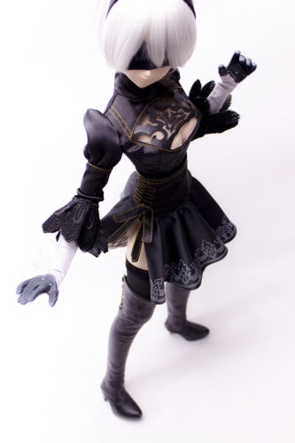 Accept custom NieR:Automata YoRHa 2B Cosplay Games Black Suit BJD COS DD SD 1/3 Doll Clothes accept custom european style black leather suit bjd uncle 1 3 sd ssdf doll clothes