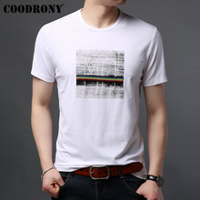 COODRONY T Shirt Men 2019 Summer New Arrival Casual Streetwear Rainbow Pattern Tshirt Short Sleeve Cotton Tee Homme S95085