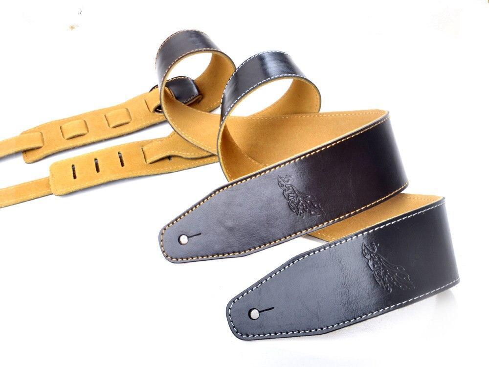 Bretelles de haute qualité harnais en cuir sangles de guitare de haute qualité en cuir bretelles ventes directes D'usine chaude style