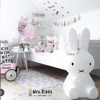 30CM 50CM Led Rabbit Night Light USB for Children Baby Kids Gift Animal Cartoon Decorative Lamp Bedside Bedroom Living Room