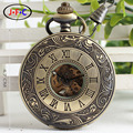 Рим бронзовые резные флип автоматические механические часы качества мужчины дамы ретро Механические Карманные Часы Q005