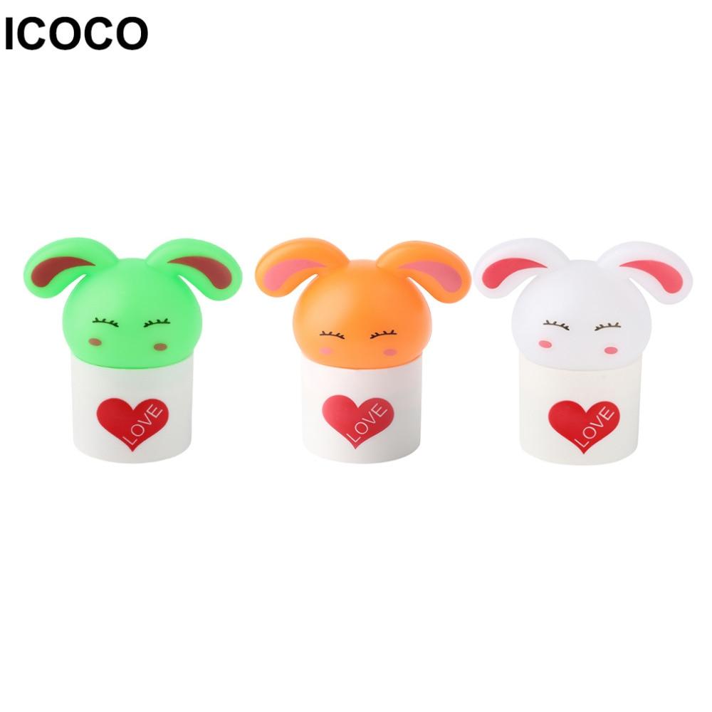 ICOCO 2017 New Plastic Baby Bedroom Night Light Cartoon Animal Rabbit Sleep LED Kids Lamp Bulb Nightlight for Children