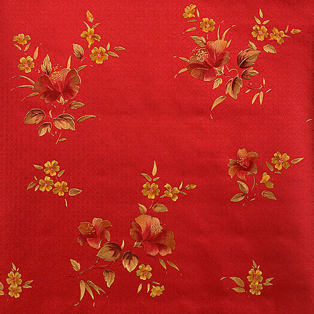 Us 35 52 17 Off Vintage Chinese Red Floral Wallpaper Luxury Romantic Living Room Bedroom Wallpaper Gold Foil Wallpaper Roll Mural Wall Paper In