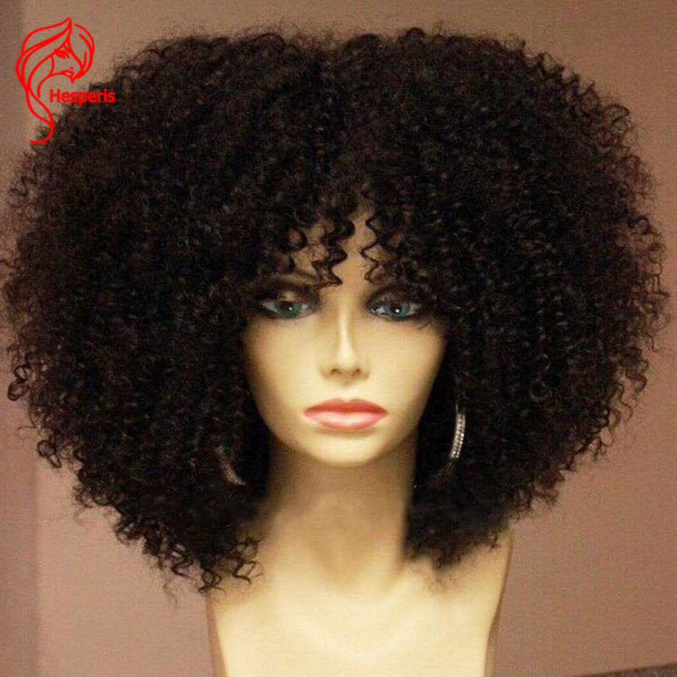 Image 5 - Hesperis 250 Density Lace Wigs With Baby Hair Afro Kinky Curl Lace Front Human Hair Wigs Brazilian Remy 13x6 Lace Front WigsHuman Hair Lace Wigs   -