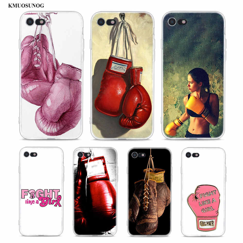 Yinuoda Boxing Gloves Soft Silicone TPU Phone Cover for