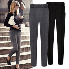 ФОТО  women's ladies clothing plus-size full length skinny stretch mid casual big yards pencil pants & capris y075