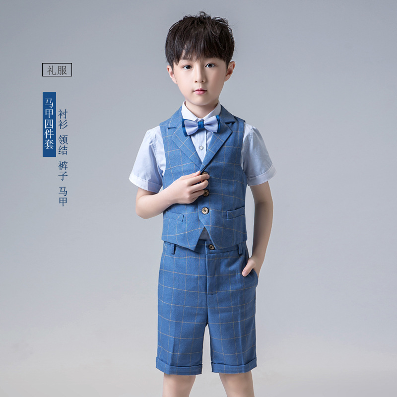 2019 Short Suit for Boy Single Breasted Boys suits for Weddings Costume Boys blazers for Summer Wear