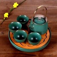 Japanese antique ceramic tea sets creative travel of kung fu tea sets home portable tea sets