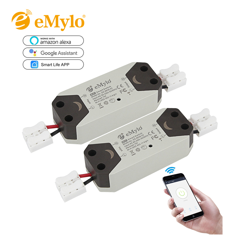 2018 New 1CH eMoly Wifi Switch Relay Module AC90V-250V 220V Wireless Light Relay Breaker Timer Switch For Smart Home Automation itead sonoff wireless wifi smart switch app control home automation module timer smart switch new