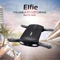 Original jjrc plegable de bolsillo selfie drone con cámara wifi fpv quadcopter rc drones helicóptero de control del teléfono mini dron h37